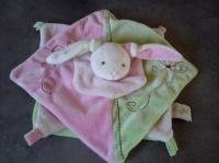 BABYNAT* lapin vert & rose BBN01