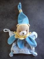 Doudou & Cie- marionnette ours bleu