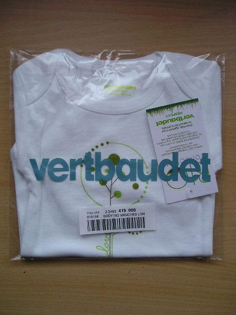 Body Vert Baudet - NEUF
