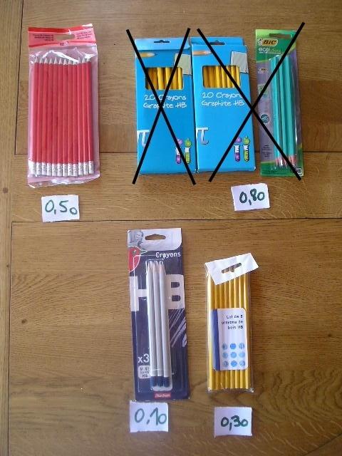 crayons papier