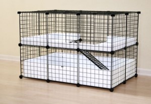 un cage spacieuse lapin pour moindre frais hamsters. Black Bedroom Furniture Sets. Home Design Ideas