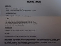 menus 5 mois