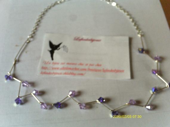 collier métalica et toupies violettes 001B