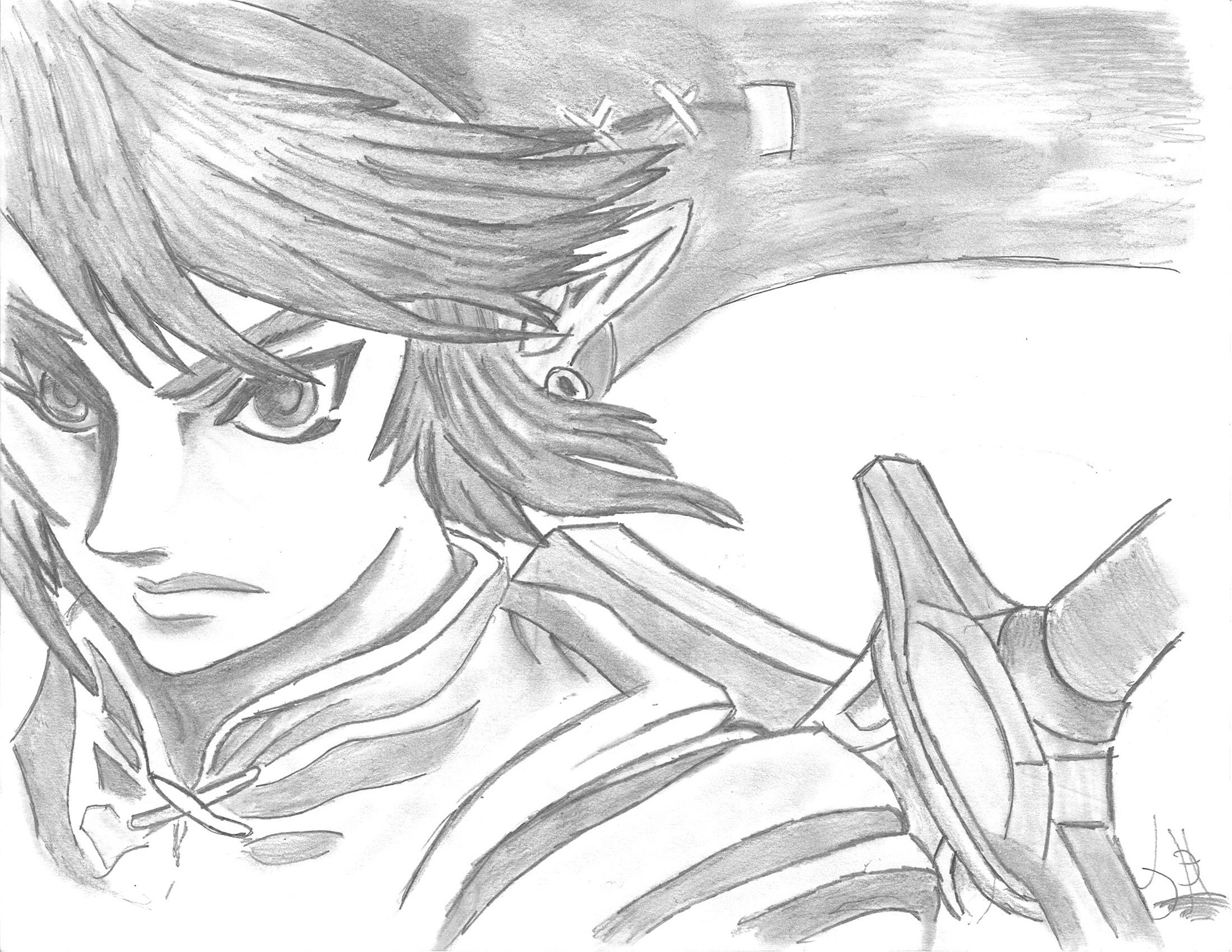 Link legend of zelda twilight princess by jdh mes - Coloriage link ...