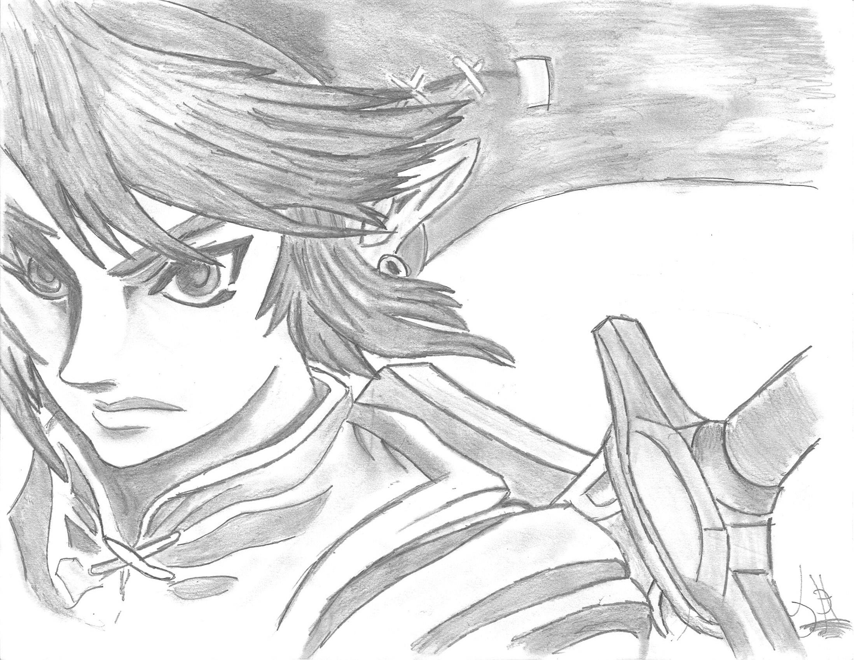 Link legend of zelda twilight princess by jdh mes - Coloriage link ...