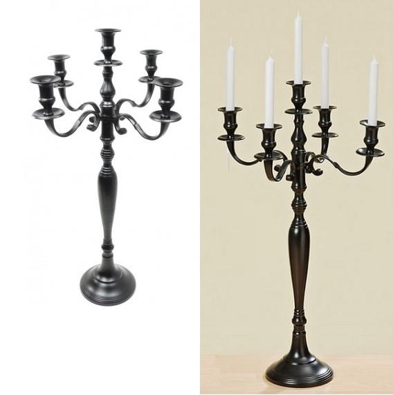 chandelier noir 77cm