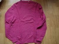 pull rose chiné 80% laine 5 €