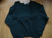 pull vert col V 80% laine taille L 3€