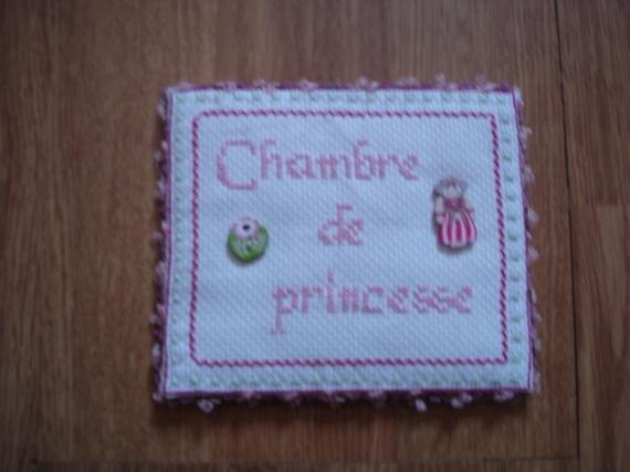 plaque de porte CHAMBRE DE PRINCESSE 12€