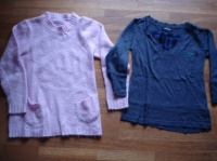 tunique : rose in extenso2€, bleu CREEKS 3€