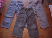 pantalons de velours taille élastique: gris ,beige kaki 2€ pièce