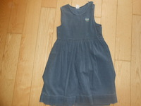 robe velours bleue 2,5€