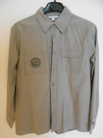 VERT BAUDET chemise grise rayée 6€