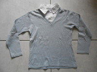 col chemise effet superposition 2,5€