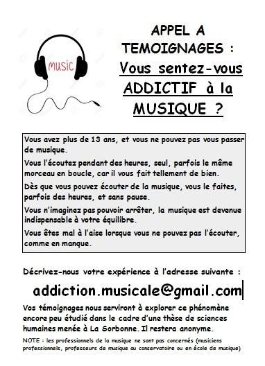 affiche addiction musicale