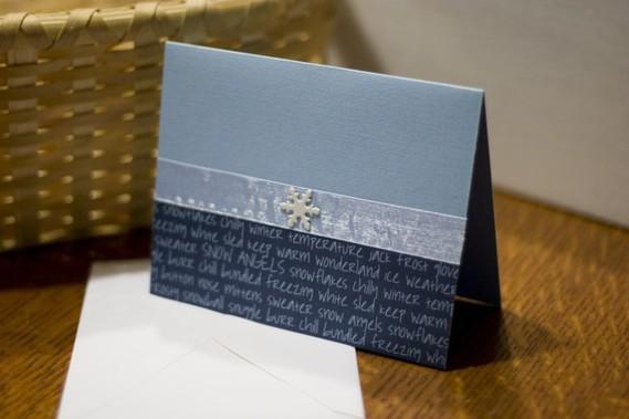 carte-vœux-Noël-homme-faite-maison-nuances-bleues-grises