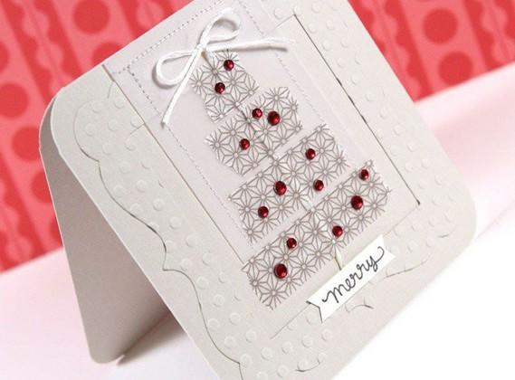 carte-vœux-Noël-super-chic-fabriquer-maison-décorer-strass