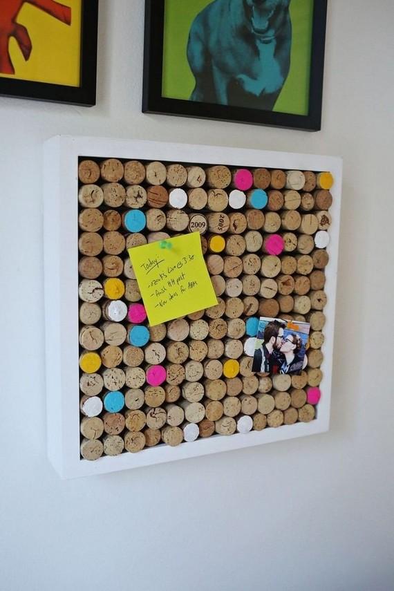 deco-chambre-ado-fille-bouchons-liège-peinture-acrylique-idée-DIY