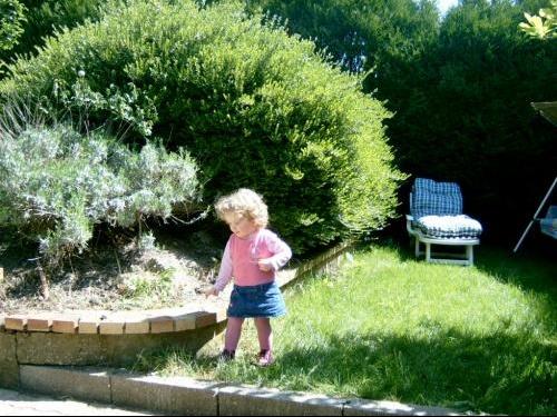 dans le jardin de papi mamie