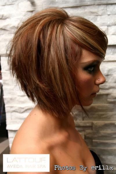 coiffure sur carre plongeant