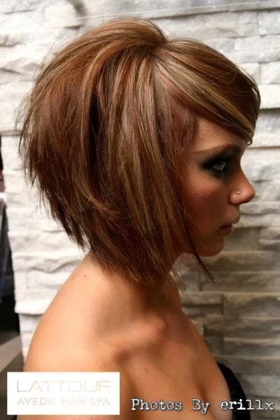 coiffure carre tres plongeant
