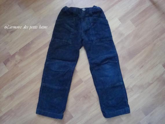 pantalon velours noir la redoute 114cm 6€