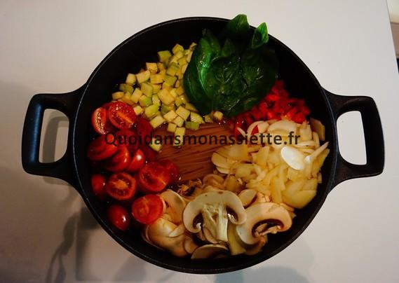 one-pot pasta vegetarien