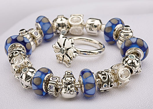 Bracelet,Pandora,bleu