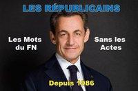 LES REPUBLICAINS LES MOTS DU FN SANS LES ACTES
