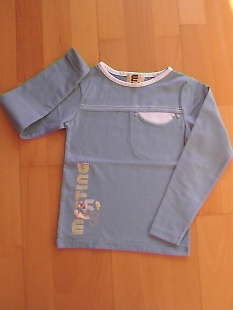 tee-shirt bleu jukebox 8 ans porté 1x 3 euros