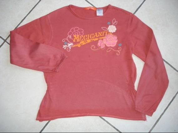 tee-shirt ML brodé O.KA.OU 10 ans