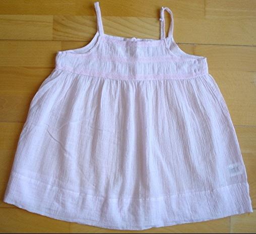 jolie blouse effet froissé C.F.K 10 ans rose porté 1X : 5 euros!