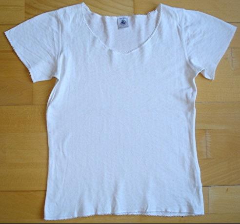 maillot de corps blanc petit bateau 10 ans : 3 euros!