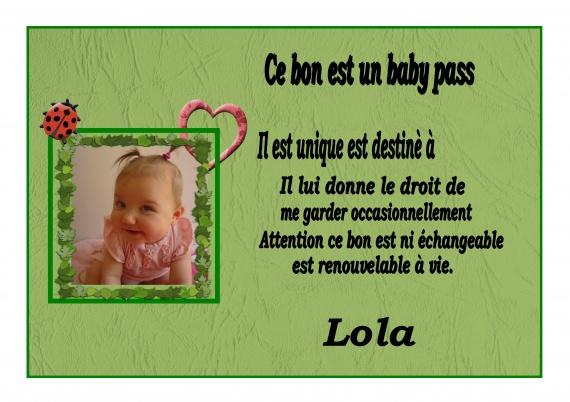 BONS BABY PASS PARRAIN