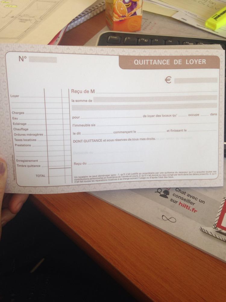 Modele pour remplir une quittance de loyer document online - Modele de quittance de loyer pour meuble ...