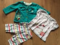 ensemble fille 3p  6 mois gilet tee shirt et legging
