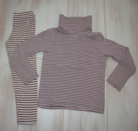 ensemble sous pull / leggings rayés 4 euros