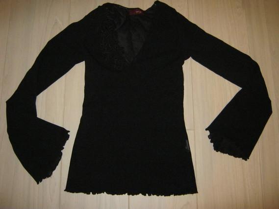 """top noir """"An'ge"""" taille 1, 3 euros"""