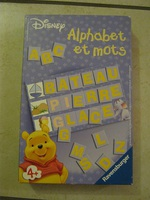 jeu alphabet et mots Winnie disney, 2 euros