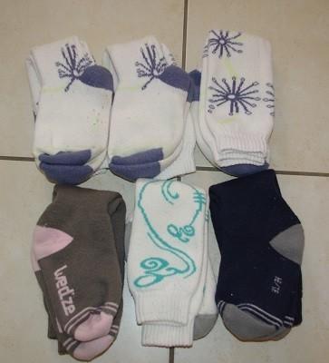 6 paires chaussettes ski 31/34, 10 euros
