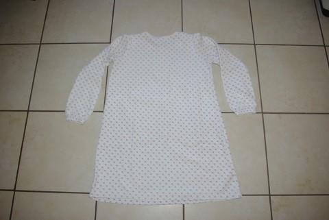 chemise de nuit de dos