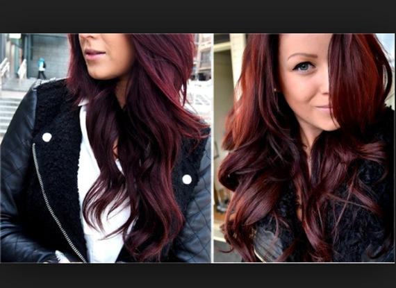 photo 1 - Coloration Cheveux Aubergine
