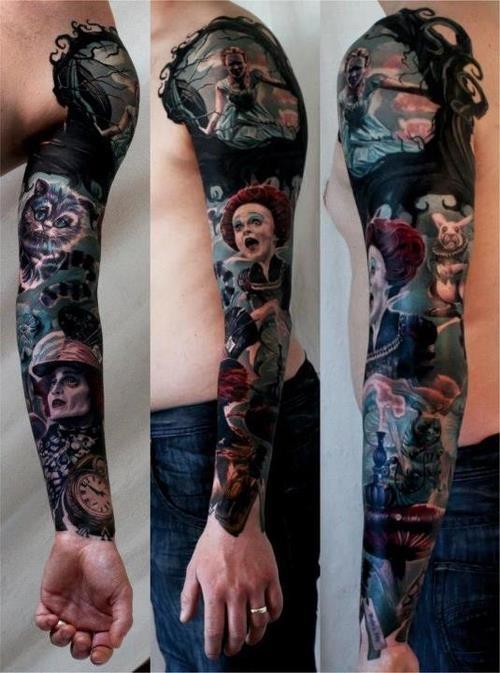 Tattoo masterpiece page 17 tatouages et piercings forum beaut - Tatouage alice au pays des merveilles ...