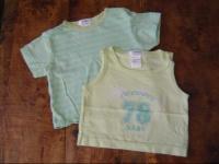 détails tee shirt LOT vert