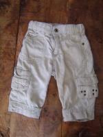 3€ pantalon reglable beige H&M 6/9mois
