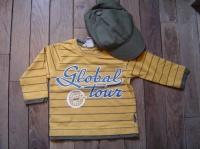 3€ 6/9mois tee shirt jaune H&M