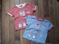 1€ tee shirt rouille/beige bleu/rouille KIABI