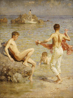 Gleaming-waters by Henry-Scott-Tuke