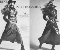 Jean Shrimpton en cirés Weather et Valstar