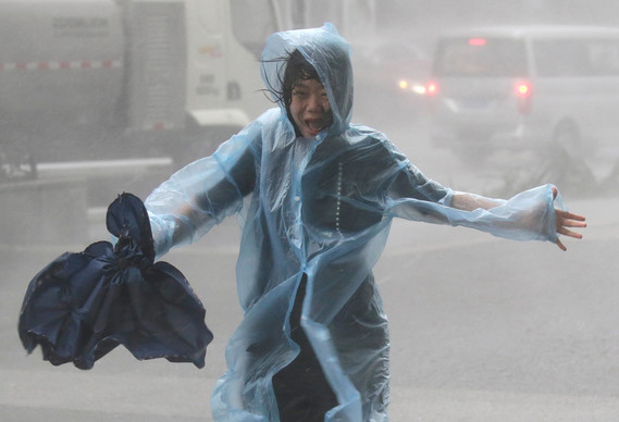 Typhon Mangkhut à Shenzhen,Chine, le 16 septembre 2018  Photo Jason Le::Reuters